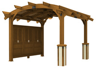PERGOLAS Sonoma 12ft. x 12ft. Arched Wood Redwood Pergola in Douglas Fir