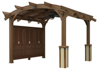 PERGOLAS Sonoma 12ft. x 12ft. Arched Wood Pergola