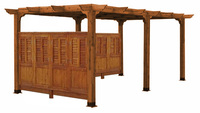 PERGOLAS Sonoma 10 REDWOOD Wall KIT