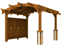 PERGOLAS Sonoma 12ft. x 16ft. Arched Wood Pergola in Redwood Stain