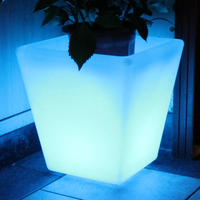 LED & SOLAR LIGHTS FIJI LED PLANTER - SQUARE