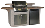 GRILLS & OUTDOOR KITCHENS St. James Outdoor Kitchen w/Mocha Supercast Top, Ameristone Tan Stucco