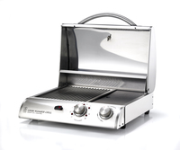 GRILLS & OUTDOOR KITCHENS Legacy 2 - 20in. Stainless Steel Cook Number Electric Grill w/Black Vinyl Cover