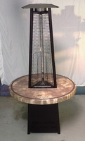 PATIO HEATERS and MISTERS TOWER OF FIRE TABLE