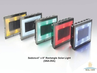 LED & SOLAR LIGHTS SEDONA 4in x 8in RECTANGLE SOLAR LIGHT - 4in X 8in