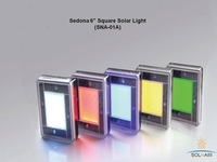 LED & SOLAR LIGHTS SEDONA 6in SQUARE SOLAR PAVER LIGHT - 6in X 6in 10 PK