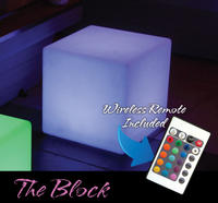 LED & SOLAR LIGHTS BLOCK LED CUBE LIGHT 16in