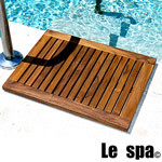TEAK FURNITURE-MATS-TILES Le spa Floor Mat RE-Framed, size M, oiled