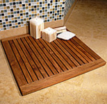 TEAK FURNITURE-MATS-TILES Le spa Teak Floor Mat, 24inch SQ Frame, oiled