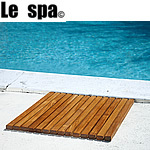 TEAK FURNITURE-MATS-TILES Premium Plantation Teak String Bath & Showermat Square, Oiled