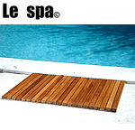 TEAK FURNITURE-MATS-TILES Premium Plantation Teak String Bath & Showermat Rectangle, Oiled