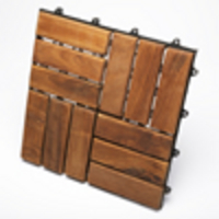 TEAK FURNITURE-MATS-TILES Le click WINDMILL, Box of 10 Tiles, oiled