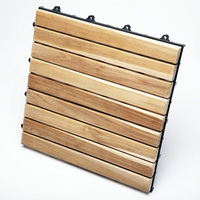 TEAK FURNITURE-MATS-TILES Le click EXLCUSIVE, box of 10 Tiles, natural