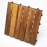 TEAK FURNITURE-MATS-TILES Le click CLASSIC Box of 10 Tiles, oiled