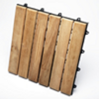 TEAK FURNITURE-MATS-TILES Le click CLASSIC Box of 10 Tiles, natural