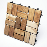 TEAK FURNITURE-MATS-TILES Le click FLEX - Box of 10 tiles, natural